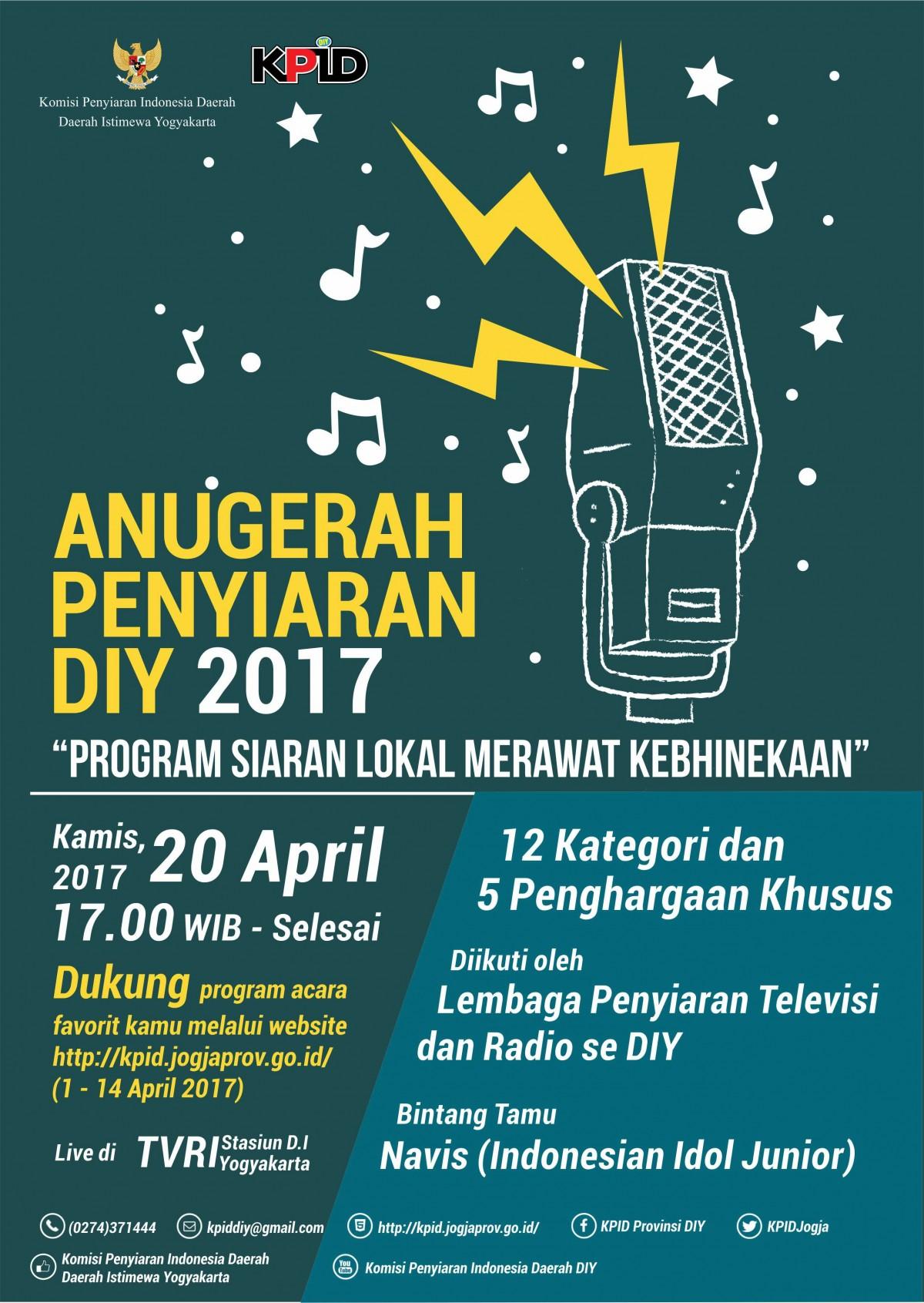 KPID DIY Helat Anugerah Penyiaran DIY Tahun 2017
