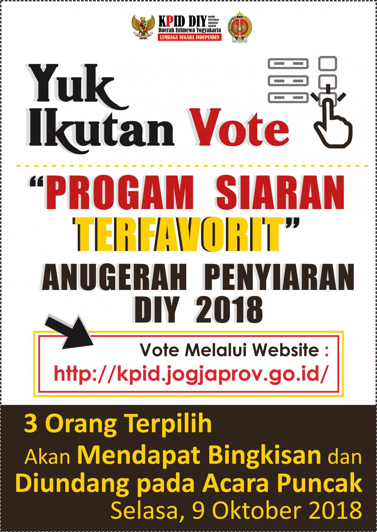 Yuk Voting Program Acara TV/Radio Favoritmu !
